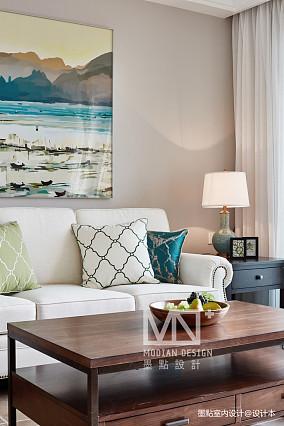 平美式四居客厅装修图片四居及以上美式经典家装装修案例效果图