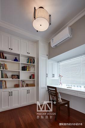 温馨153平美式四居书房美图四居及以上美式经典家装装修案例效果图