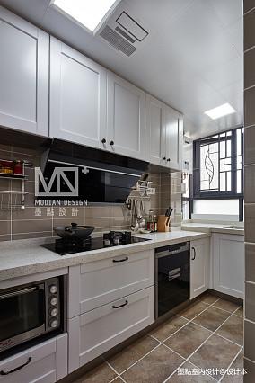 优美124平美式四居厨房装修效果图四居及以上美式经典家装装修案例效果图
