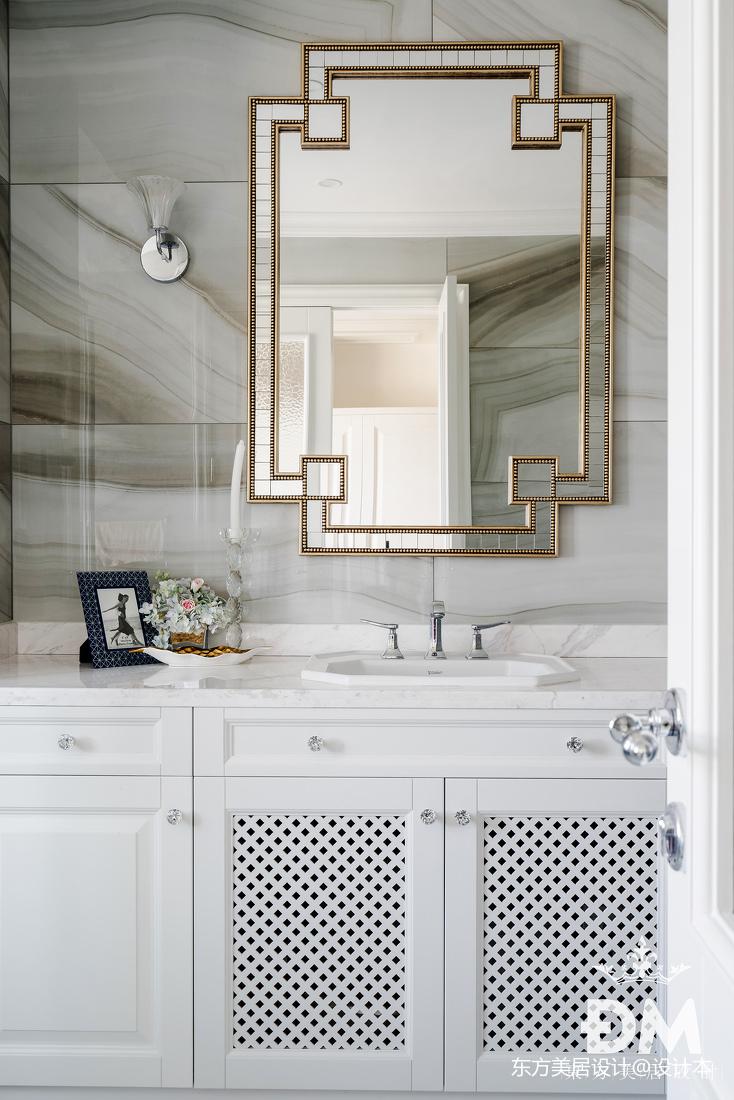 600平复式住宅卫浴洗手台实景图片卫生间美式经典卫生间设计图片赏析