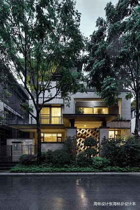 质朴850平中式别墅花园图片欣赏