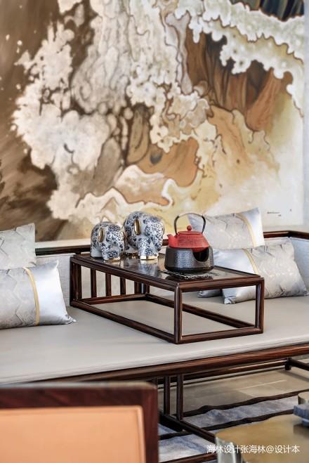 2019806平中式别墅客厅装饰图