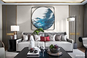精致327平中式样板间客厅设计美图样板间中式现代家装装修案例效果图
