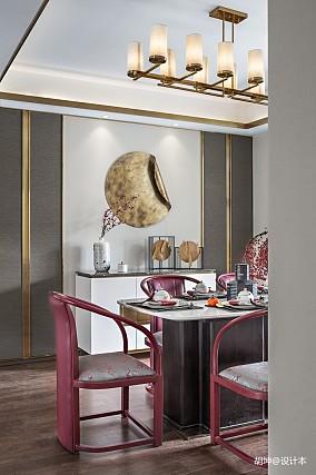 温馨301平中式样板间餐厅装修图样板间中式现代家装装修案例效果图