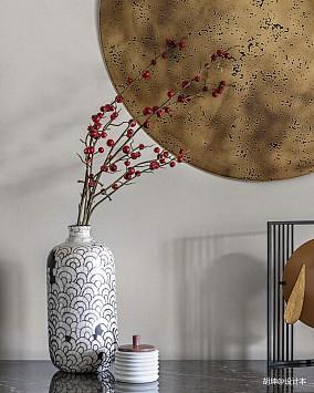 轻奢338平中式样板间餐厅装修装饰图样板间中式现代家装装修案例效果图