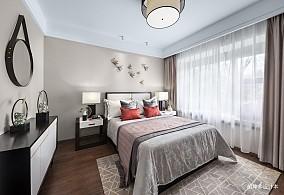 轻奢345平中式样板间卧室装修图样板间中式现代家装装修案例效果图