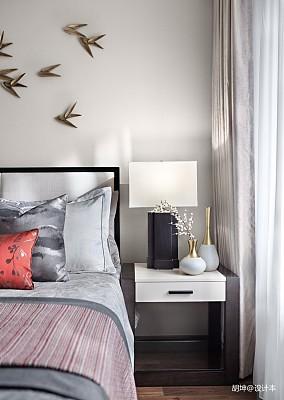 温馨293平中式样板间卧室效果图欣赏样板间中式现代家装装修案例效果图