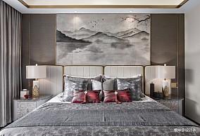 精美250平中式样板间卧室装修图片样板间中式现代家装装修案例效果图