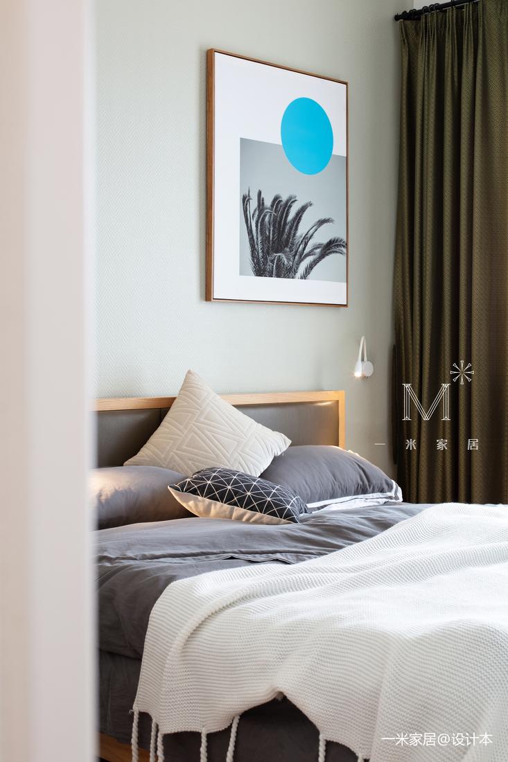 质朴88平混搭二居效果图片大全卧室窗帘潮流混搭卧室设计图片赏析