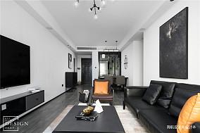 经典黑白灰客厅设计实景图片