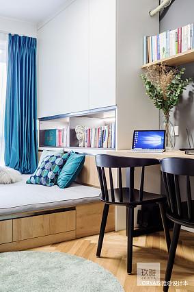 浪漫88平简约二居卧室装修图片二居现代简约家装装修案例效果图