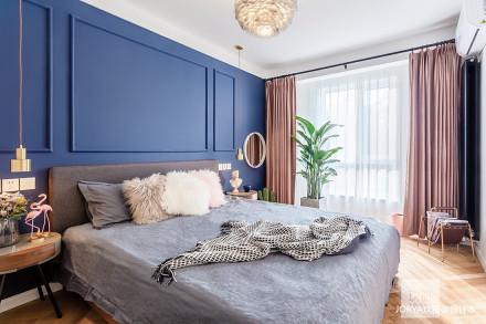 典雅74平简约二居卧室效果图欣赏