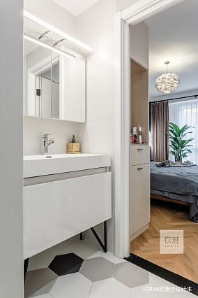 明亮90平简约二居卫生间设计美图二居现代简约家装装修案例效果图