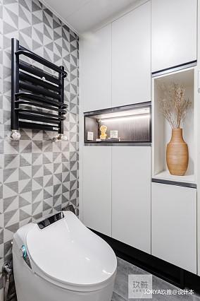 轻奢64平简约二居卫生间装饰图片二居现代简约家装装修案例效果图