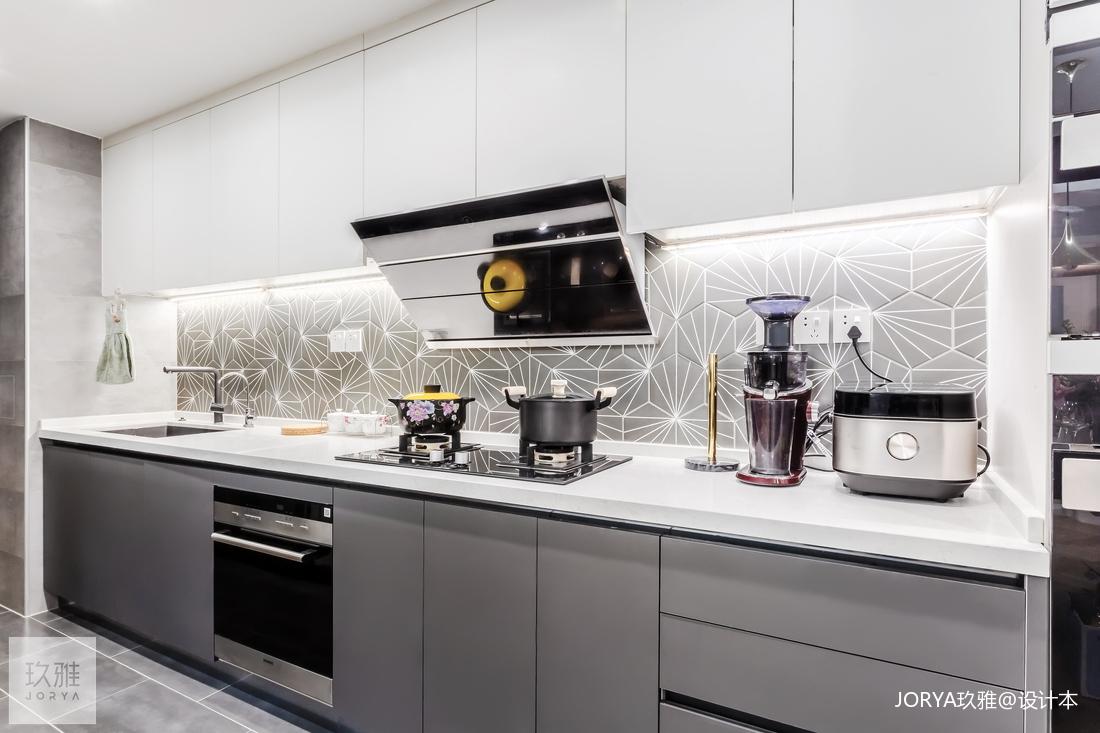 精美80平简约二居厨房装修图片餐厅现代简约厨房设计图片赏析