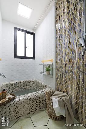 温馨83平北欧三居卫生间装潢图