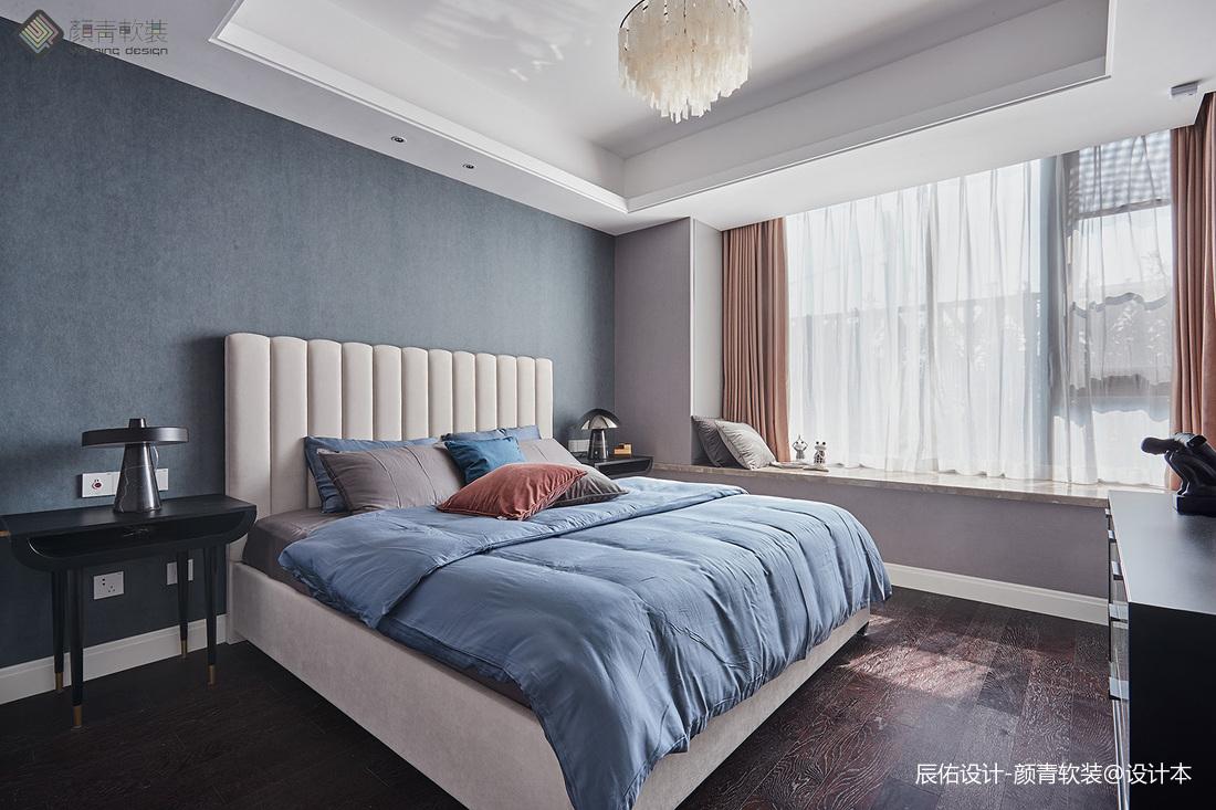 质朴156平简约四居卧室装修图卧室床现代简约卧室设计图片赏析