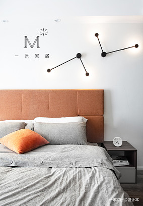 轻奢82平简约二居卧室设计图二居现代简约家装装修案例效果图