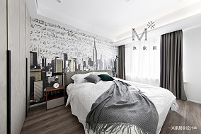 温馨88平简约二居卧室效果图欣赏二居现代简约家装装修案例效果图