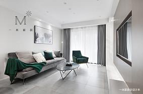 100㎡现代简约客厅设计图二居现代简约家装装修案例效果图