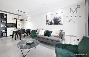 精致82平简约二居客厅实景图片二居现代简约家装装修案例效果图