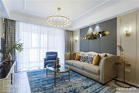 简洁118平美式四居客厅装修装饰图