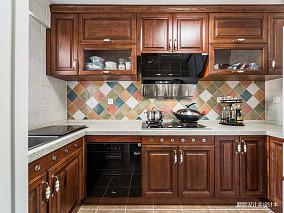 优雅95平美式四居厨房实景图片餐厅美式经典设计图片赏析