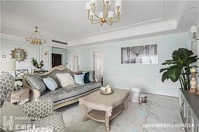 温馨141平法式四居客厅布置图