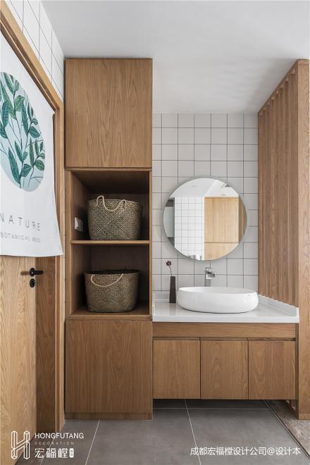 优雅72平混搭三居卫生间装修图卫生间