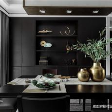 悠雅88平中式三居餐厅装修案例