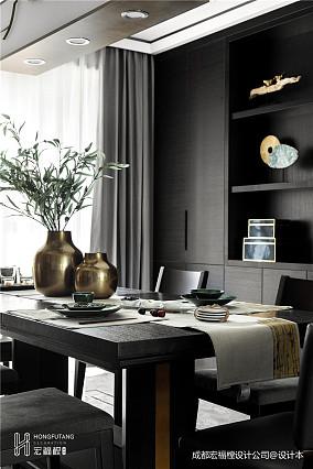 平中式三居餐厅装饰图厨房中式现代设计图片赏析