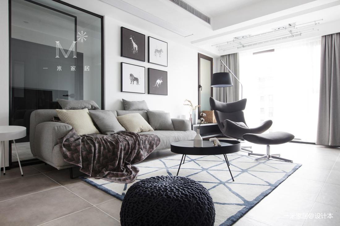 质朴130平现代二居客厅装修效果图二居现代简约家装装修案例效果图