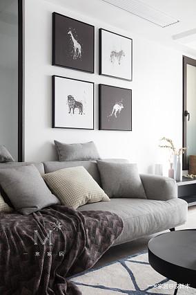 精致61平现代二居美图二居现代简约家装装修案例效果图