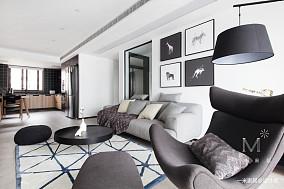 简洁60平现代二居客厅案例图二居现代简约家装装修案例效果图