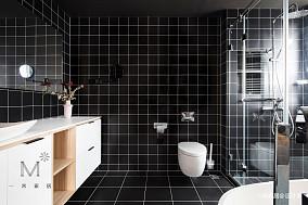 优雅72平现代二居卫生间设计美图二居现代简约家装装修案例效果图