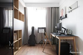 温馨80平现代二居书房装修美图二居现代简约家装装修案例效果图