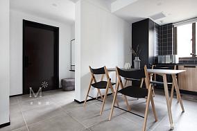 温馨86平现代二居餐厅装修图二居现代简约家装装修案例效果图