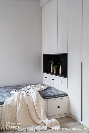 质朴85平北欧二居卧室装修效果图卧室北欧极简设计图片赏析
