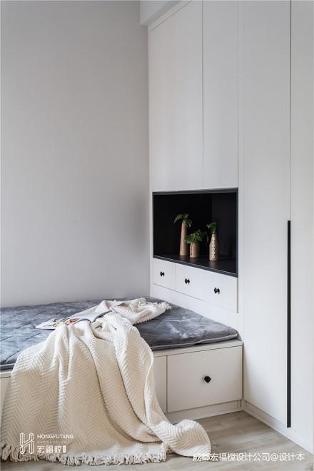 质朴85平北欧二居卧室装修效果图卧室