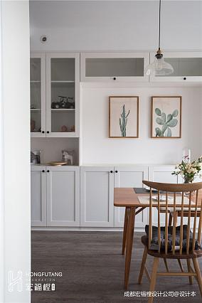 大气73平北欧复式餐厅设计案例厨房北欧极简设计图片赏析