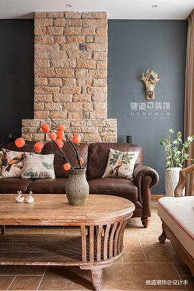 温馨792平法式别墅客厅实景图片