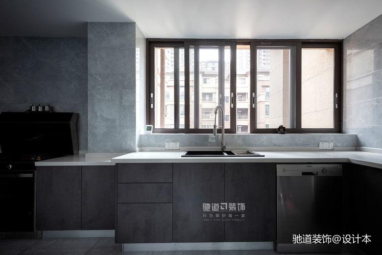 精致107平现代四居厨房设计美图餐厅现代简约厨房设计图片赏析