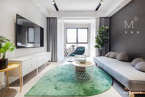 精致92平现代二居客厅装修图二居现代简约家装装修案例效果图