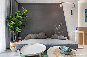 精美66平现代二居客厅装修案例二居现代简约家装装修案例效果图