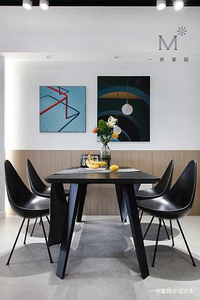 典雅63平现代二居餐厅装修装饰图