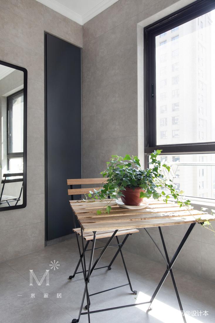 典雅82平现代二居阳台装修案例阳台现代简约阳台设计图片赏析