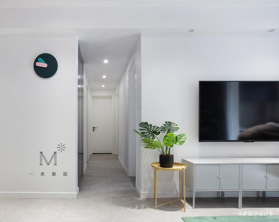大气54平现代二居过道布置图二居现代简约家装装修案例效果图