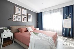 温馨78平现代二居卧室装修案例二居现代简约家装装修案例效果图