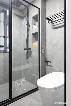 浪漫90平现代二居卫生间美图二居现代简约家装装修案例效果图