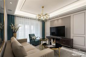 华丽101平美式三居客厅设计效果图